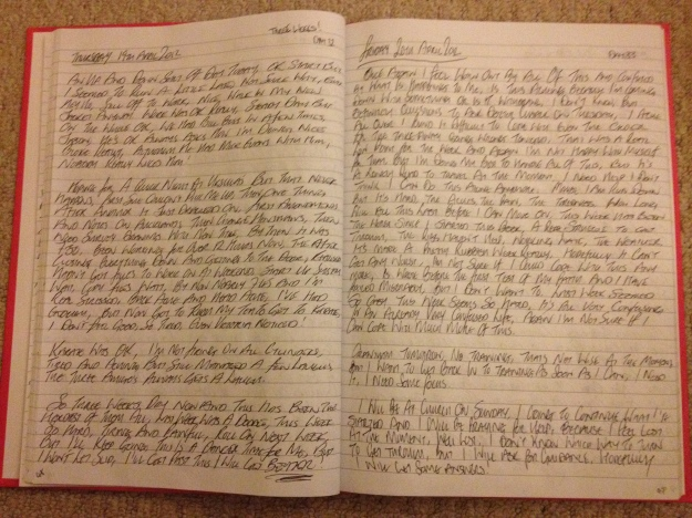 Journal Entry - 20th April 2012