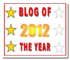 Blog of the Year Award 3 star