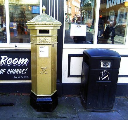 Sophie Wells Gold Post Box (picture credit: Wikipedia)