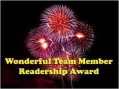 Wonderful Team Member Award