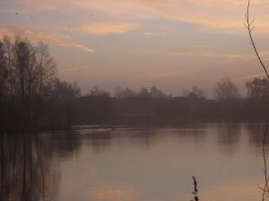 Misty Sunrise Over Blue Lake 3