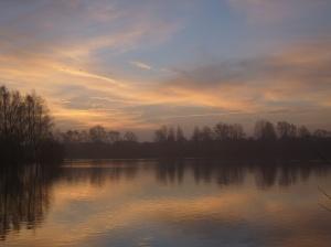 Misty Sunrise Over Blue Lake 4