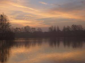 Misty Sunrise Over Blue Lake 5
