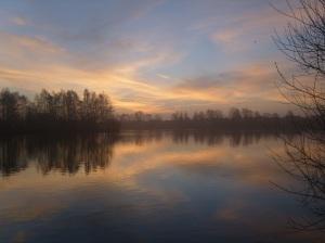 Misty Sunrise Over Blue Lake 6