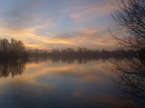 Misty Sunrise Over Blue Lake 7