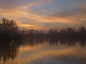 Misty Sunrise Over Blue Lake 8