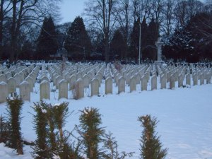 Snow Covered War Graves 1