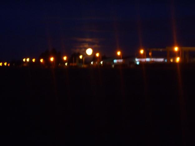 Full Moon Behind Street Lights 2