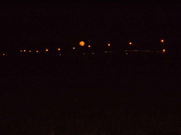 Full Moon Behind Street Lights 3