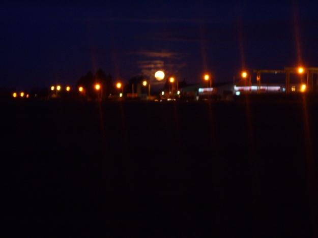 Full Moon Behind Street Lights 4