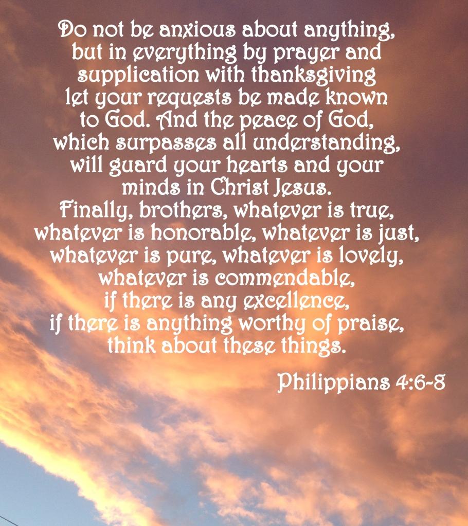 Philippians 4:6-8