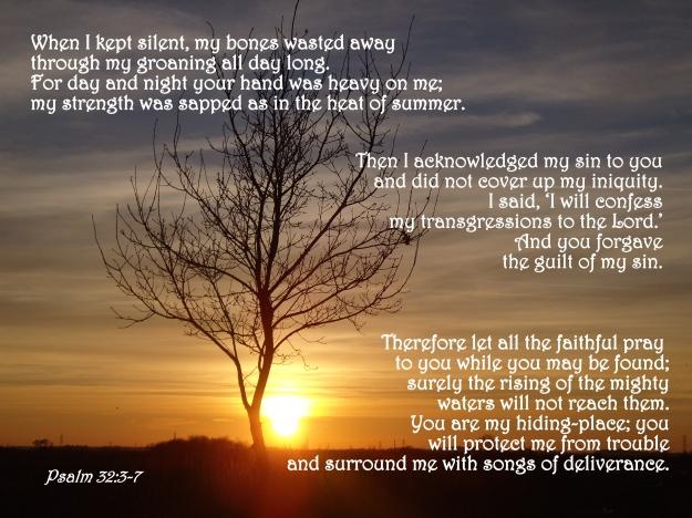 Psalm 32:3-7