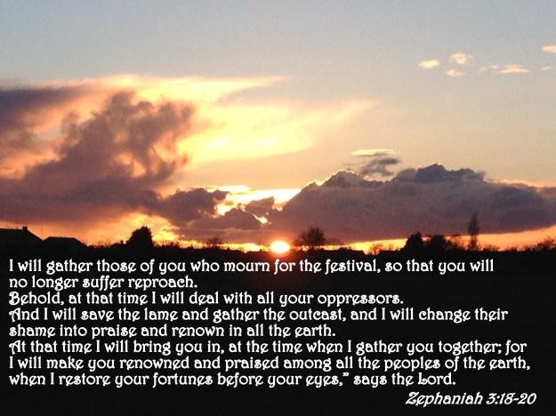 Zephaniah 3:18-20