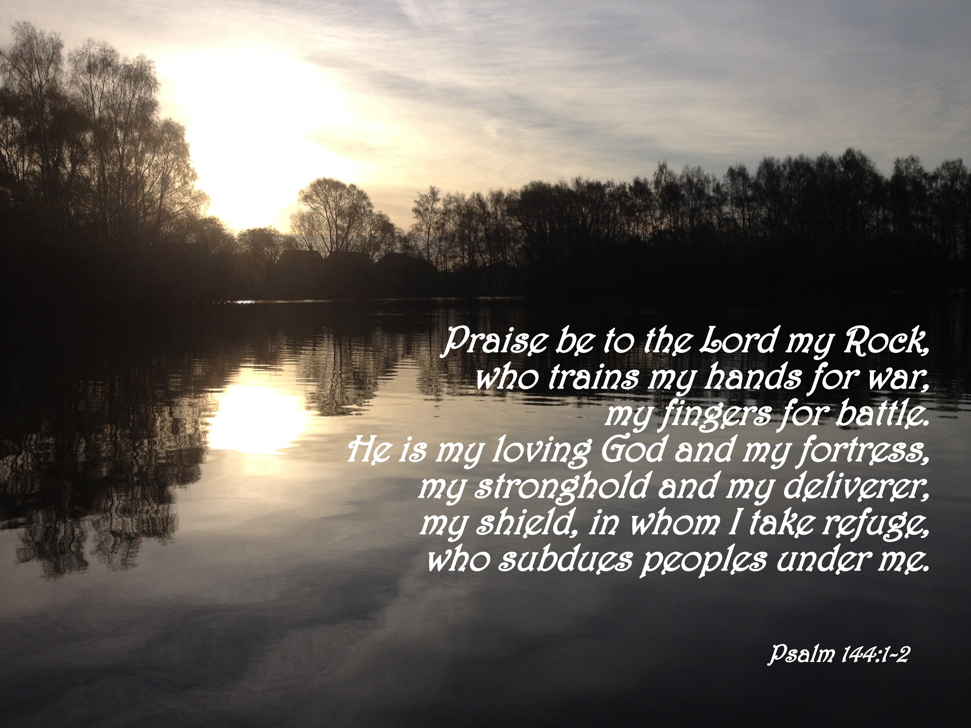 Psalm 144 1 2 the bottom of a bottle