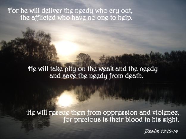 Psalm 72:12-14