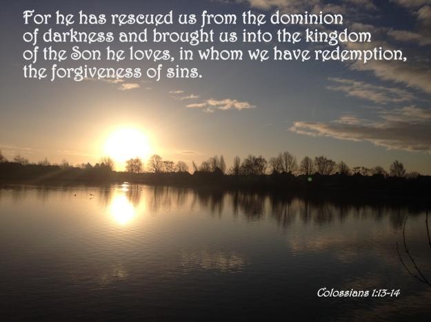Colossians 1:13-14