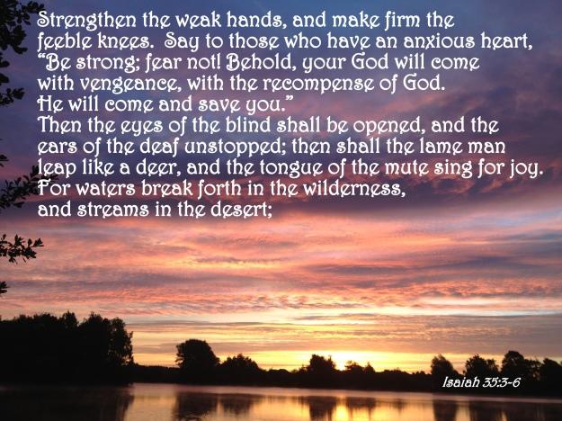 Isaiah 35:3-6
