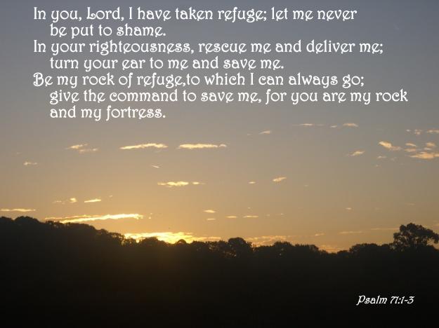 Psalm 71:1-3