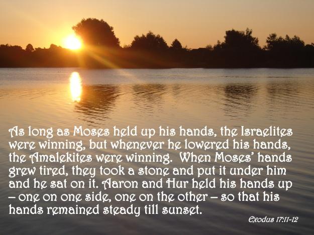 Exodus 17:11-12