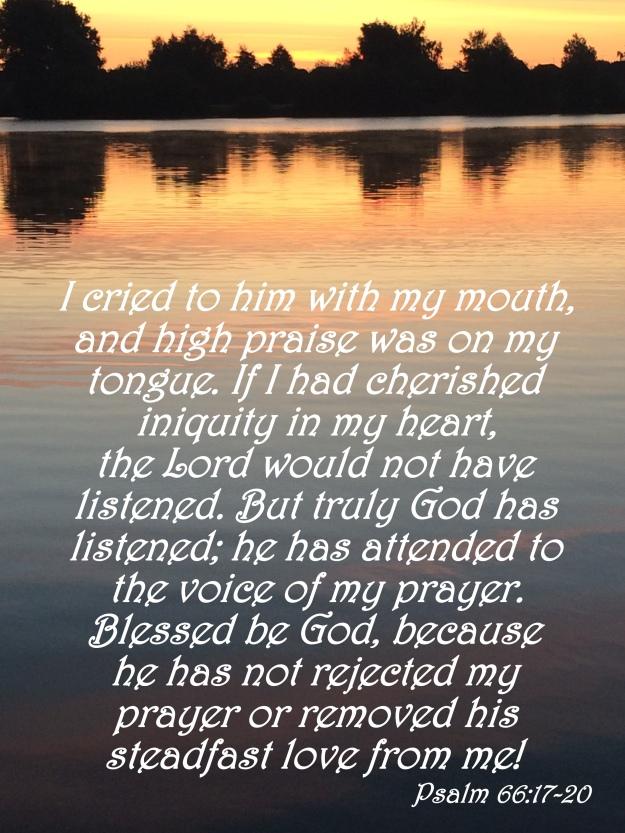 Psalm 66:17-20