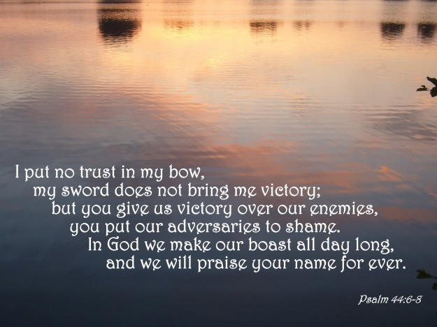 Psalm 44:6-8
