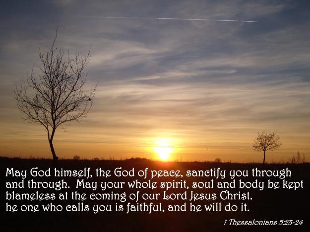 1 Thessalonians 5:23-24