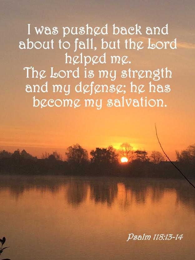Psalm 118:13-14