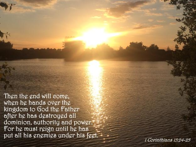 1 Corinthians 15:24-25