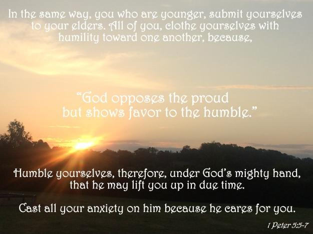 1 Peter 5:5-7