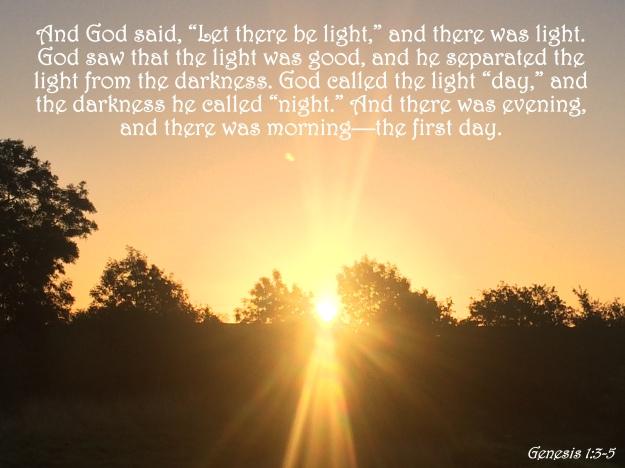 Genesis 1:3-5