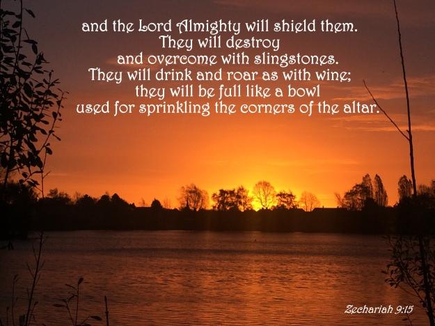 Zechariah 9:15