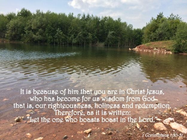 1 Corinthians 1:30-31
