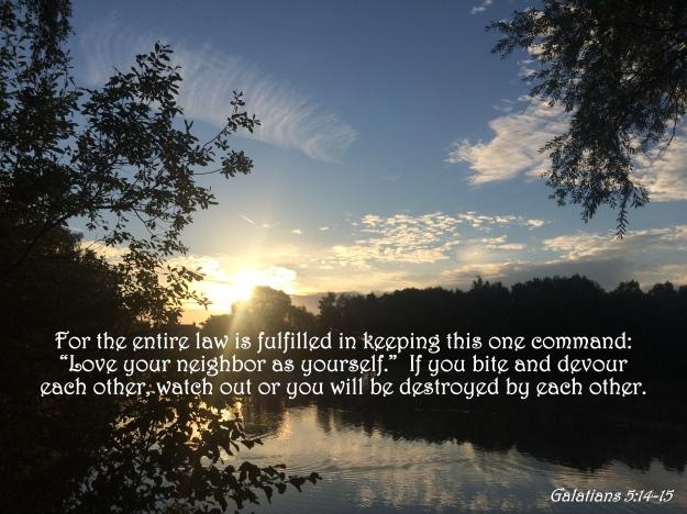 Galatians 5:14-15