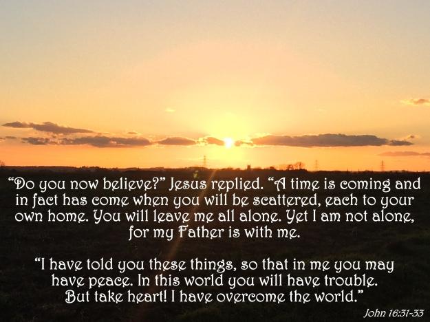 John 16:31-33
