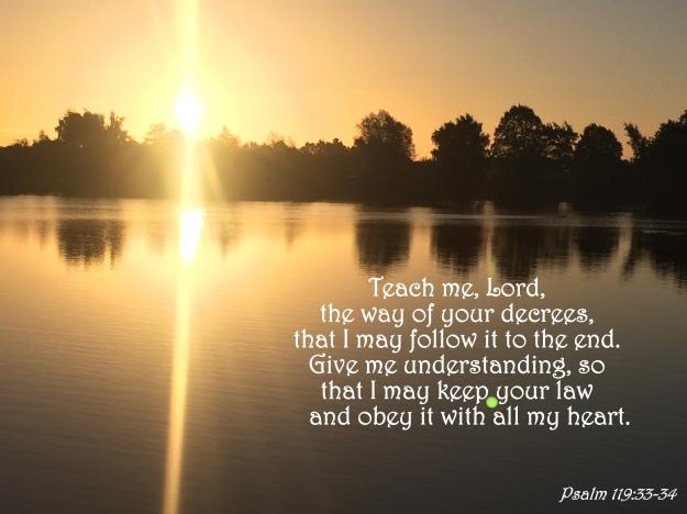 Psalm 119:33-34