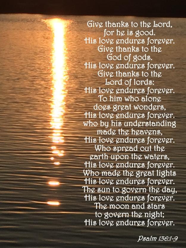 Psalm 136:1-9