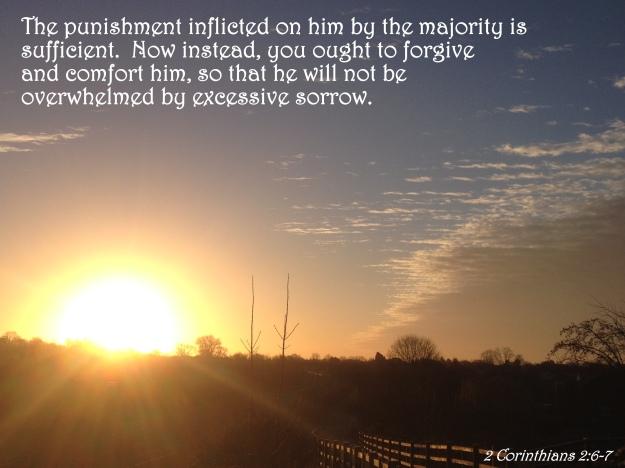 2 Corinthians 2:6-7