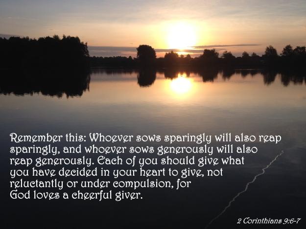 2 Corinthians 9:6-7