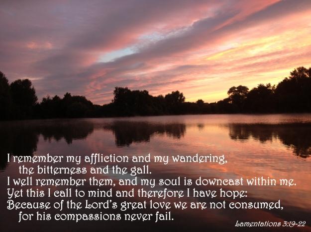 Lamentations 3:19-22