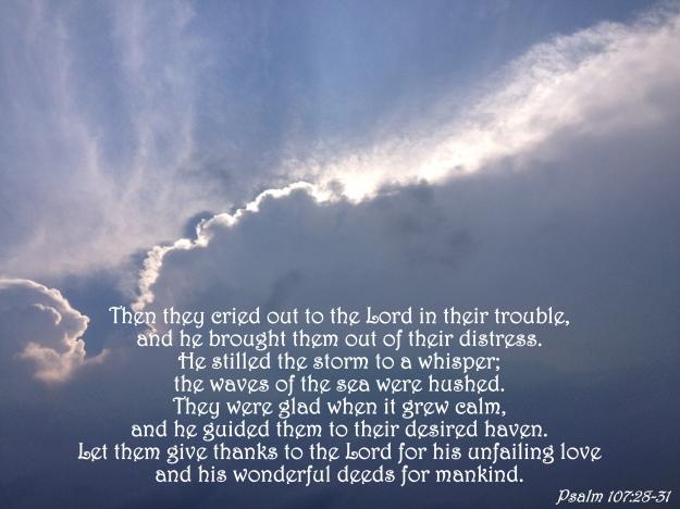 Psalm 107:28-31