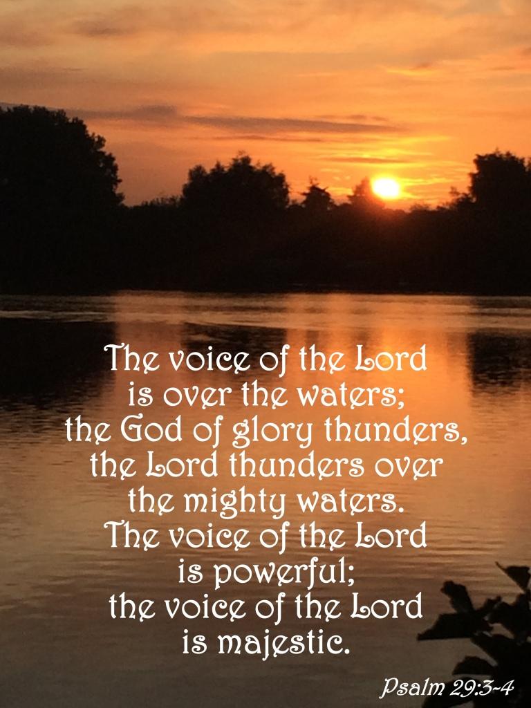 Psalm 29:3-4