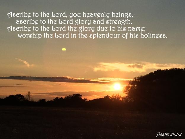 Psalm 29:1-2