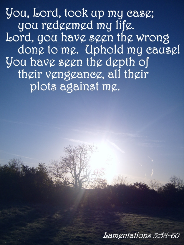 Lamentations 3:58-60