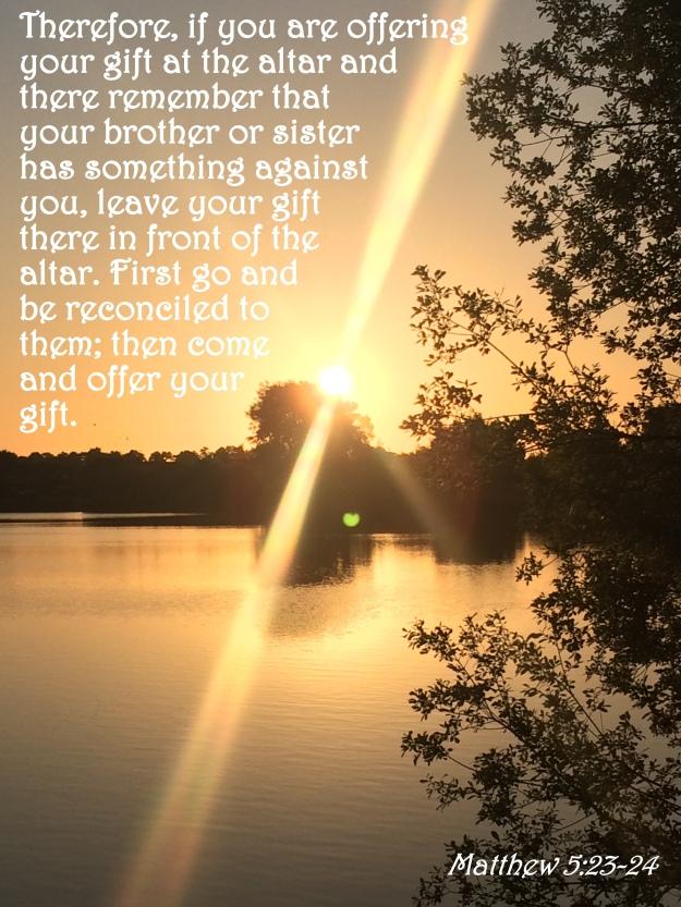 Matthew 5:23-24