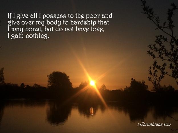 1 Corinthians 13:3