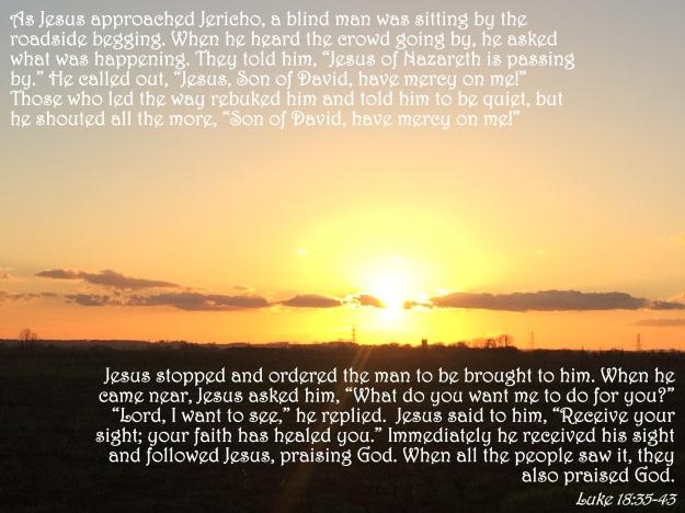 Luke 18:35-43