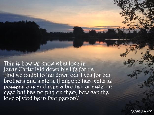 1 John 3:16-17