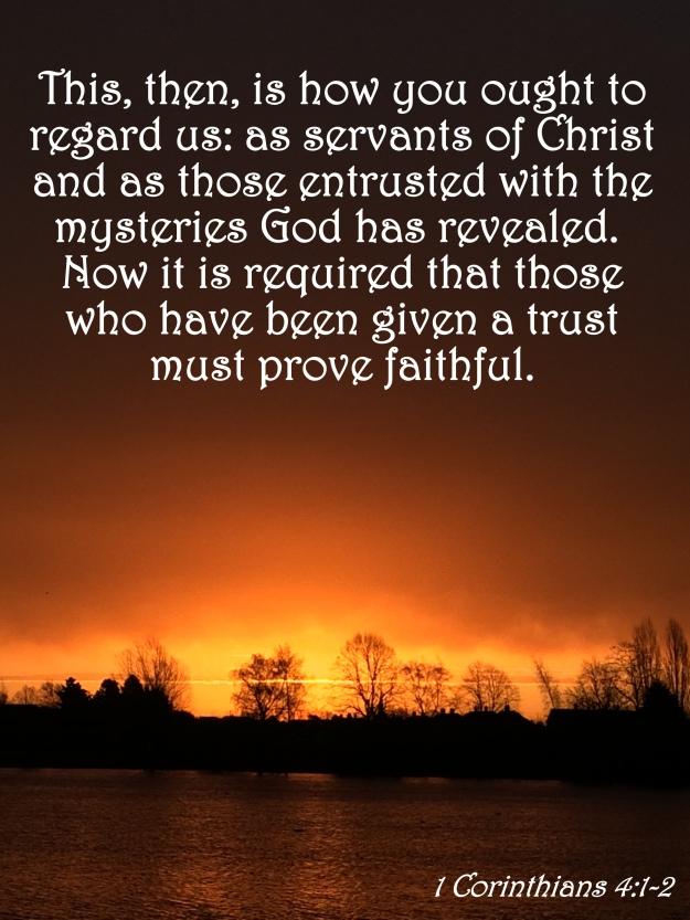 1 Corinthians 4:1-2