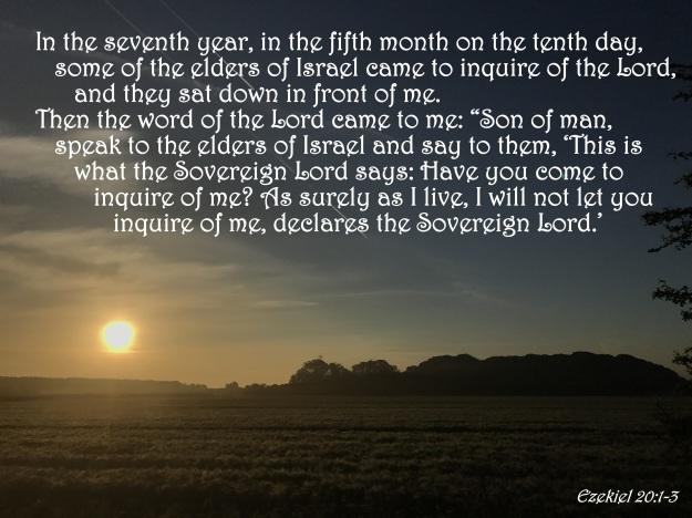 Ezekiel 20:1-3