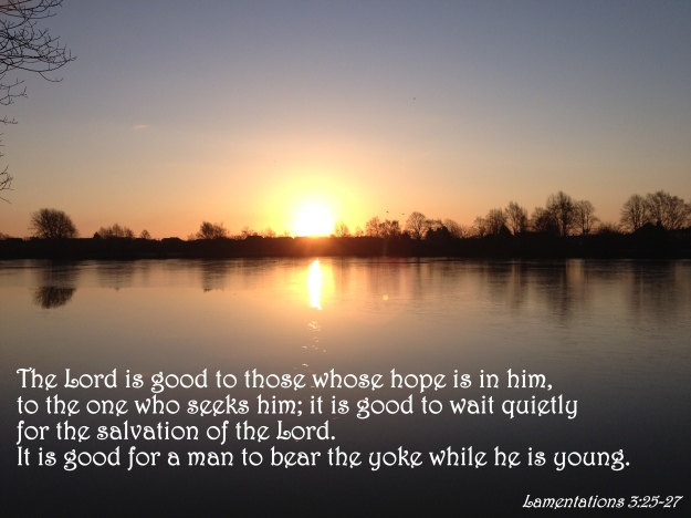 Lamentations 3:25-27